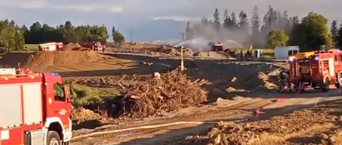 На будівництві в Польщі стався вибух газу