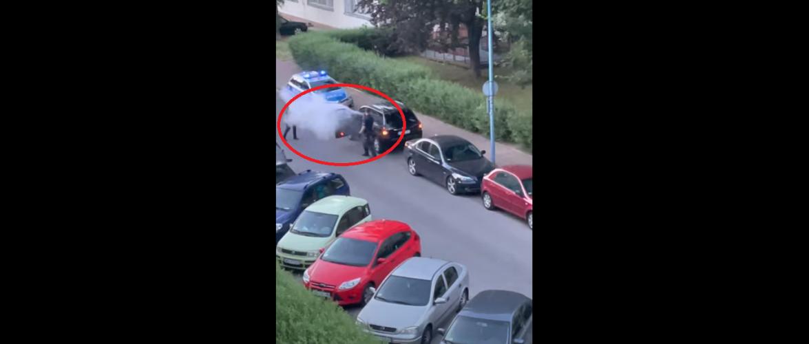 Поліція в Польщі зловила буйного українця, а той відбивався вогнегасником [+ВІДЕО]