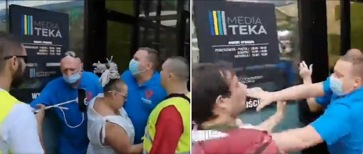 У Польщі антивакцинатори напали на пункт щеплень [+ВІДЕО]