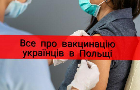 Де та як українці в Польщі можуть вакцинуватися від коронавірусу?
