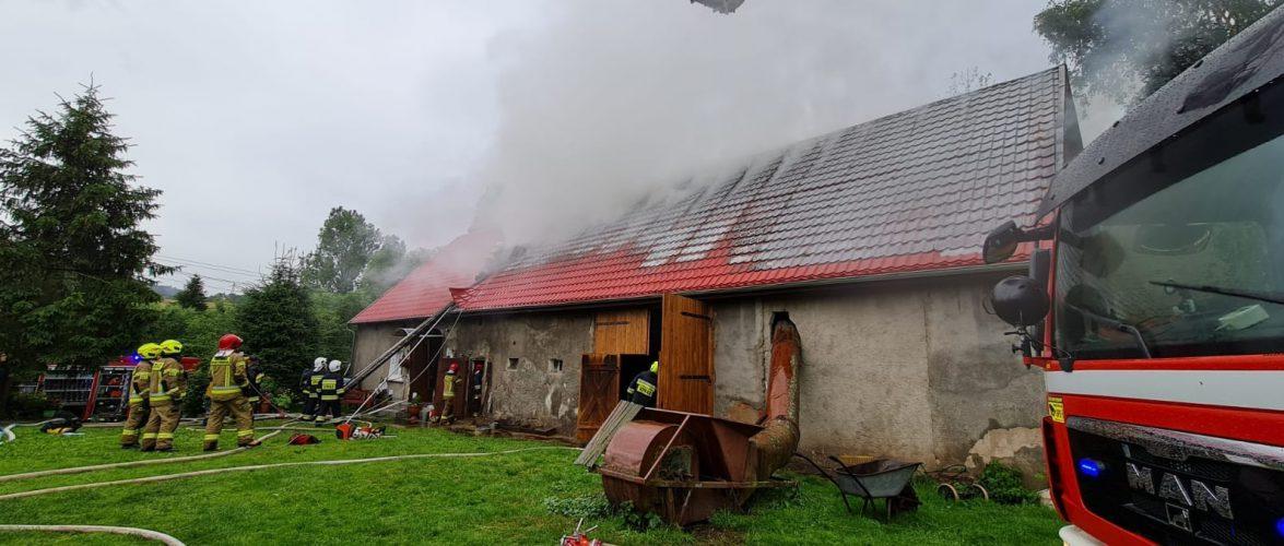 У Польщі після удару блискавки загорівся будинок [+ВІДЕО]