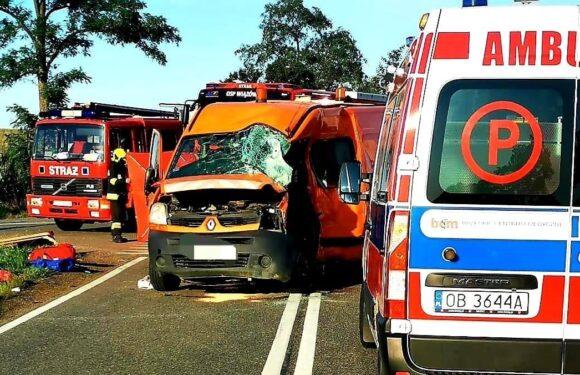 В Польщі бус зіткнувся з вантажівкою: 6 осіб отримали травми [+ФОТО]
