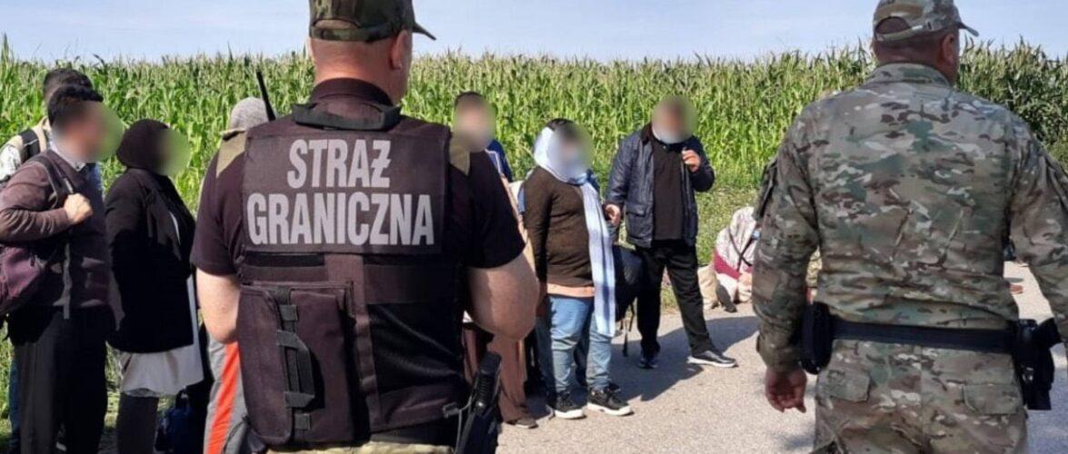 На польському кордоні затримали 50 мігрантів з Білорусі