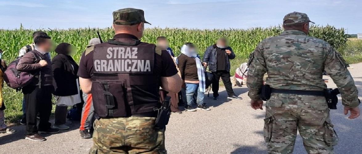 Польські прикордонники затримали на кордоні 62 нелегалів, яким допомагав українець