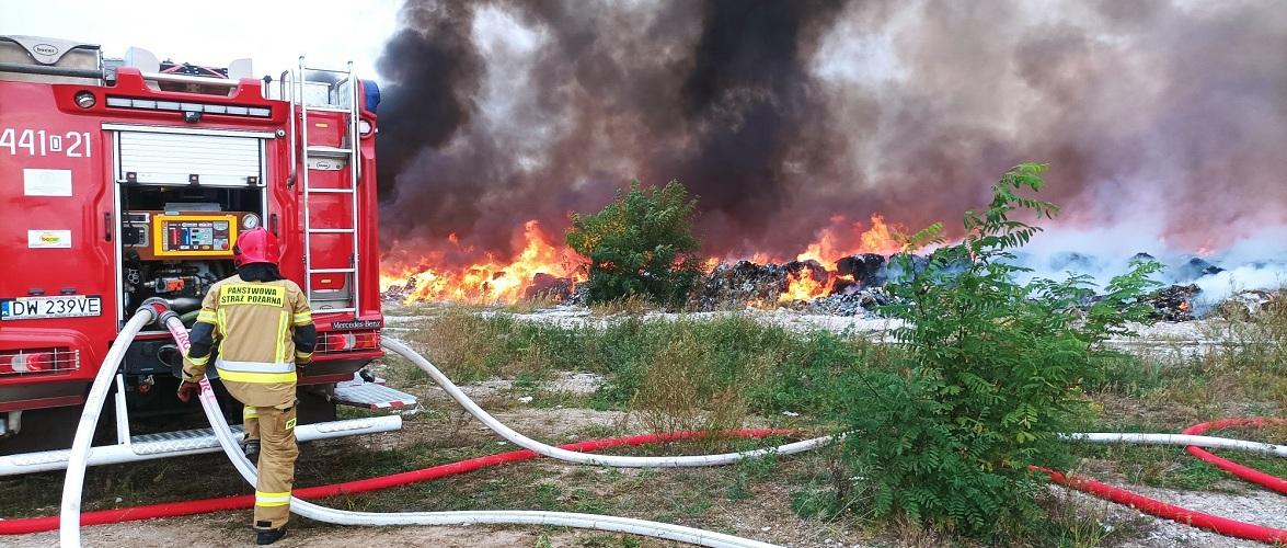 Велика пожежа на полігоні у Нижній Сілезії [+ФОТО]