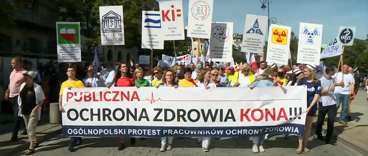 У Варшаві протестують медики [+ВІДЕО] (оновлено)
