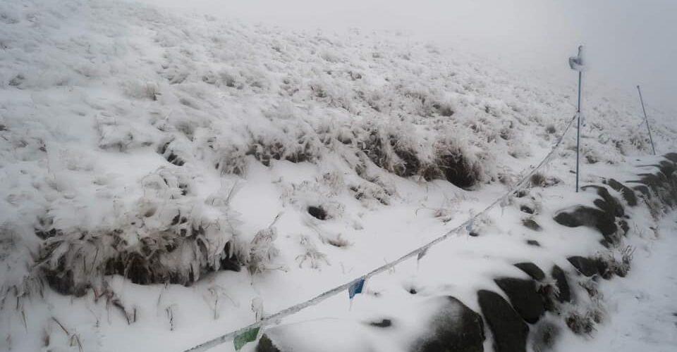 В Польщі випав перший сніг