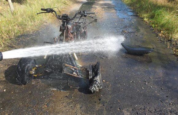 У лісі в Польщі вщент згорів квадроцикл, а водій ще й отримав штраф [+ФОТО]