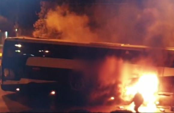 В Польщі загорівся автобус, в якому було 30 українців [+ВІДЕО]